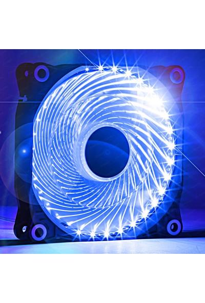 Dark 12cm Ultra Bright 33X Mavi Ledli Kasa Fanı (DKCCFB122B)