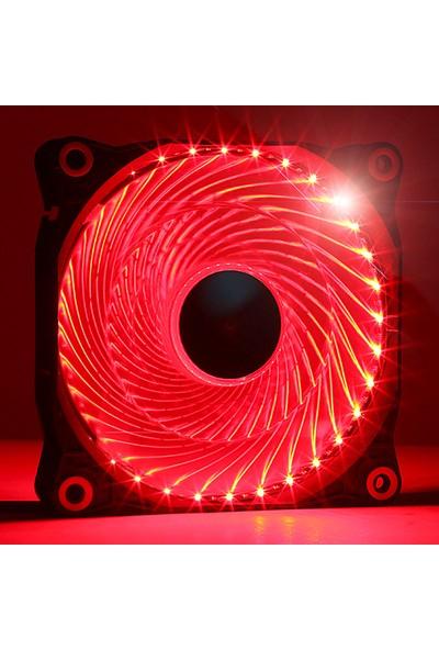 Dark 12cm Ultra Bright 33X Kırmızı Ledli Kasa Fanı (DKCCFB122R)