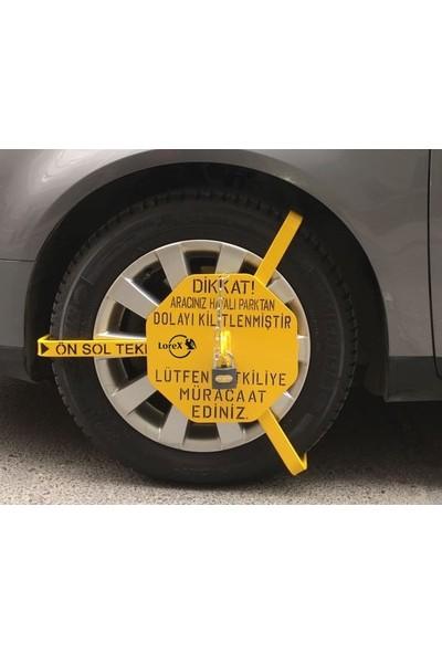 Lorex Araç Tekerlek Kilidi / Hatalı Park İkaz Kelepçesi