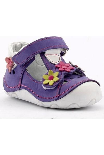 Teo Bebe 3200 %100 Deri Ortopedik Cırtlı Kız Çocuk Ayakkabı