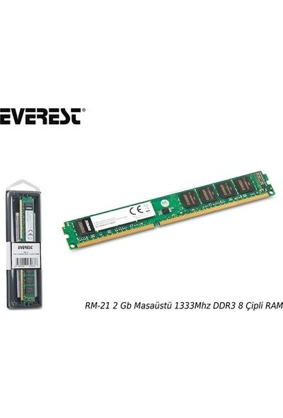 Everest Rm-21 2 Gb Masaüstü 1333Mhz Ddr3 Cl9 8 Çipli Ram