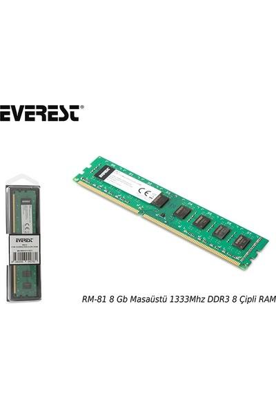 Everest Rm-81 8 Gb Masaüstü 1333Mhz Ddr3 Cl9 8 Çipli Ram