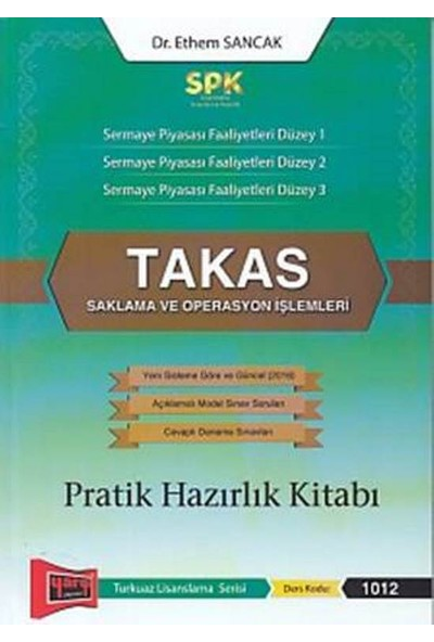 Yargı Yayınevi SPK Takas Saklama ve Operasyon İşlemleri Pratik Hazırlık Kitabı