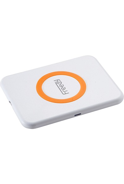 Freedy Minik Kablosuz Şarj Cihazı Beyaz