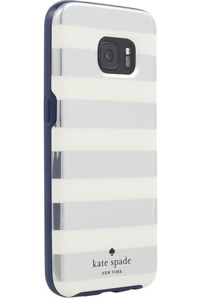 Kate Spade Flexıble Hardshell Serısı Samsung Galaxy S7 Arka Kapak Krem-Gümüş