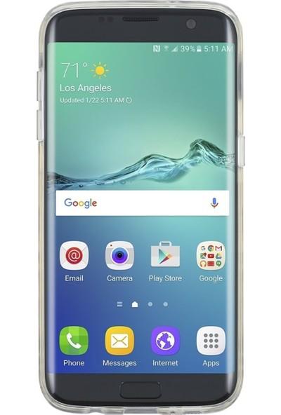 Kate Spade Hardshell Serısı Samsung Galaxy S7 Edge Şeffaf Gold Puantıyelı