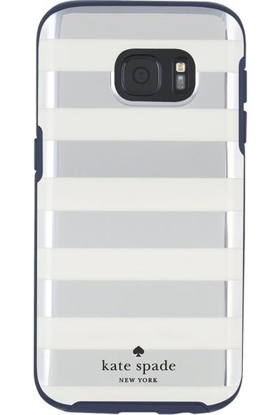 Kate Spade Hybrıd Hardshell Serısı Samsung Galaxy S7 Arka Kapak Krem-Gümüş