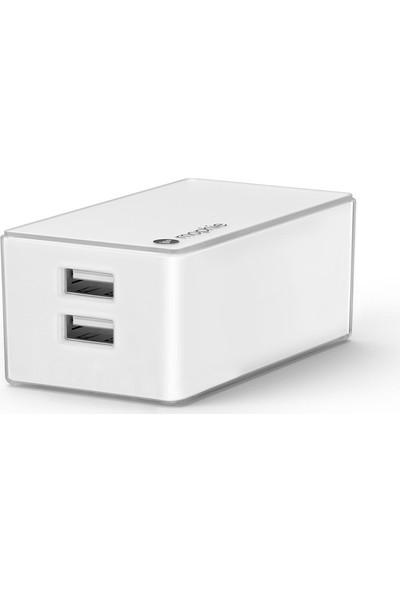 Mophie Beyaz Çift Çıkışlı Şarj Cihazı GP-G925MPBPABU