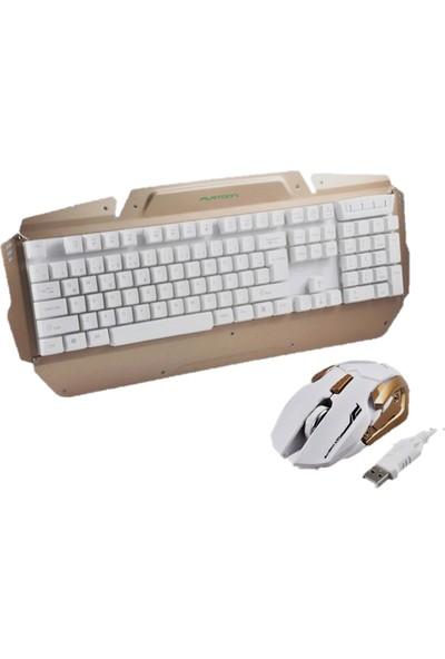 Platoon Pl-385 Işıklı Oyuncular İçin Tasarlanmış Mekanik Hisli Klavye Mouse Set