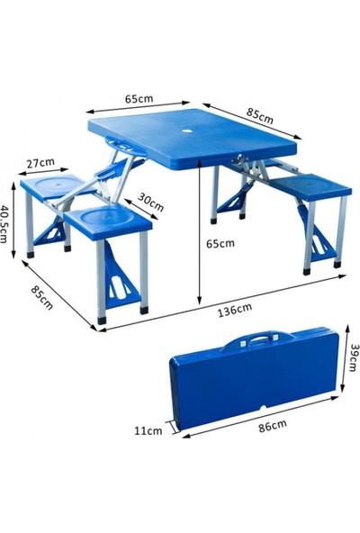 KP Katlanabilir Çanta Tipi 4 Kişilik Piknik Masası