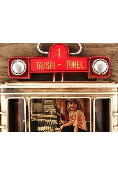 DS Vintage 3D Taksim Tramvay Fotoğraf Çerçevesi