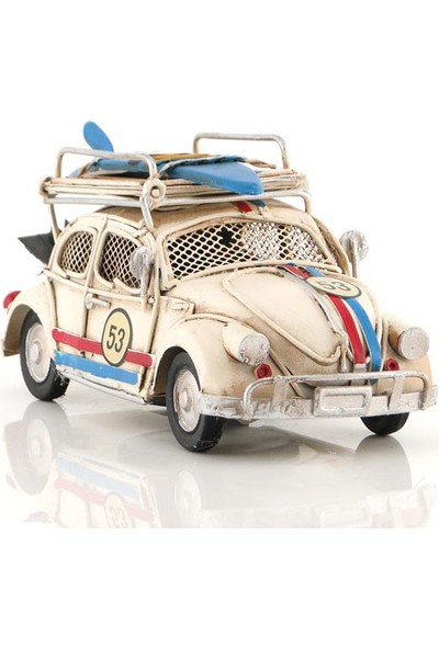 MNK Beetle Classic Eskitilmiş Görünümlü Nostaljik Metal Araba El Yapımı