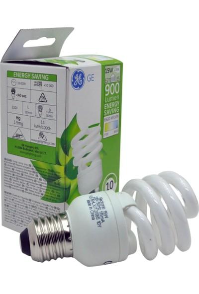 Ge 15W Tasarruflu Spiral Ampul (Beyaz Işık) E27