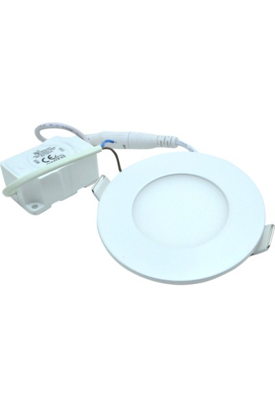 Ack Panel LED Slim Yuvarlak Spot 3 W 3000K Gunışığı Işık Beyaz Gövde AP01-00300