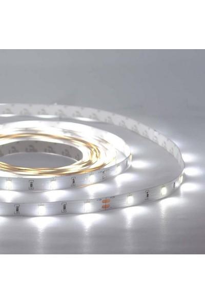 El-Max 1 Çip Dışmekan Silikonlu Şerit Led 12V (Beyaz Işık) - 5Mt'Lik Paket