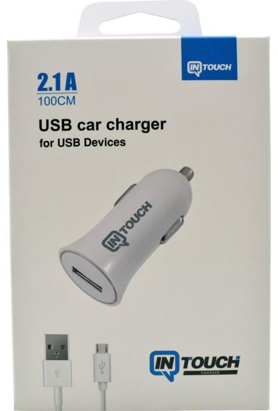 Intouch Araç Şarjı+Micro Usb Kablo