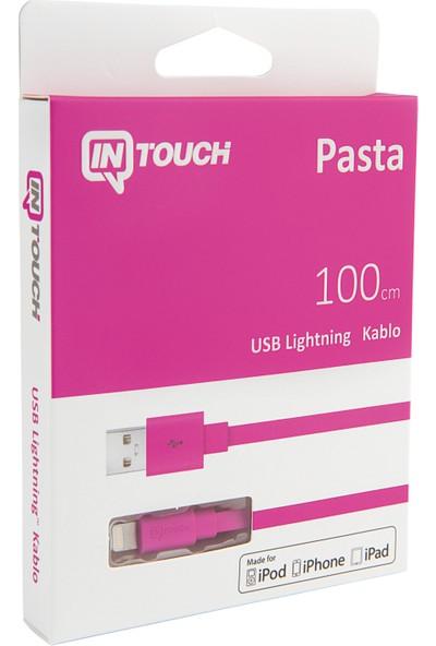 Intouch Pasta MFI Lightning Kablo 100 cm Pembe