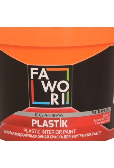 Fawori Plastik İç Cephe Boyası 10 Kg İstiridye