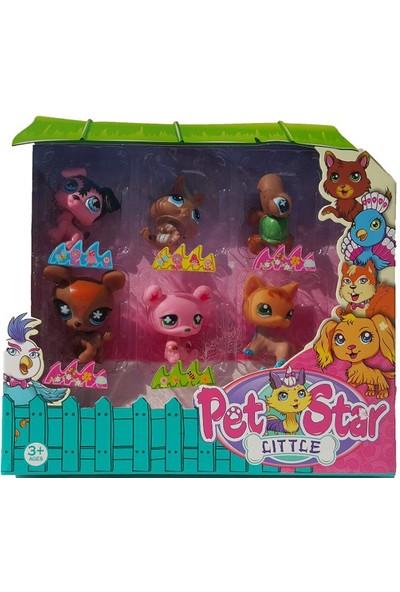 Littlest Pet Shop Neşeli Minişler 6'lı Miniş Ailesi Oyuncak Pet Star Kahveli Pembeli