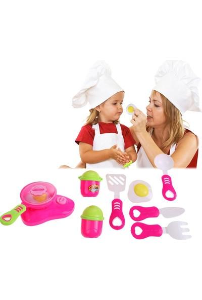 Trendelektro Mutfak Oyuncak Eğitici Pişirme Seti Pembe 14 Parça
