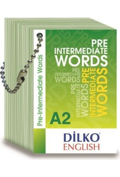 Dilko A2 Pre Intermediate Words Kelime Kartı