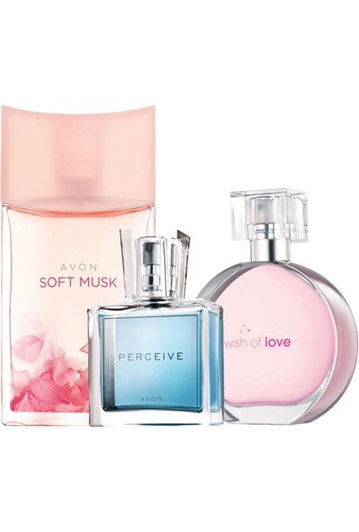Avon Soft Musk Wish Of Love Perceive Üçlü Kadın Parfüm Set
