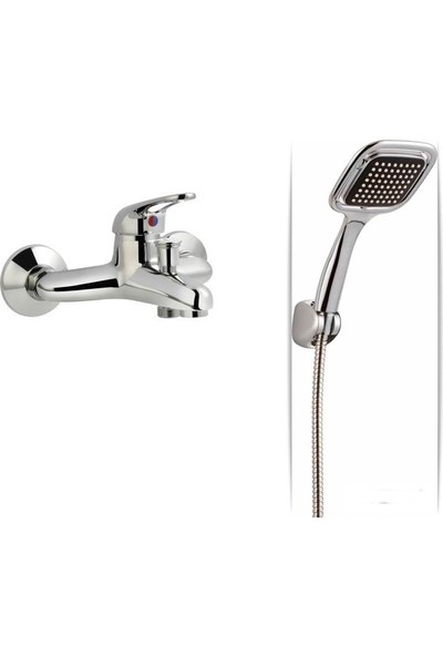 ACR Kitre Banyo Bataryası + ACR Kare Duş Seti