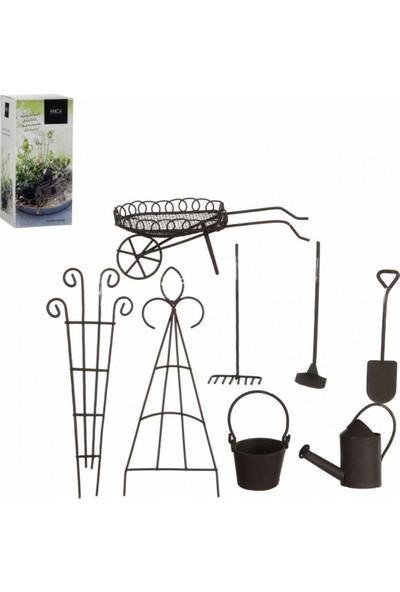 Greenmall Mini Bahçe / Terraryum Bahçe Malzemeleri Seti 8 Parça