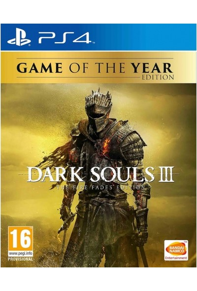 Dark Souls 3 The Fıre Fades Game Of The Year (Goty) PS4 Oyun