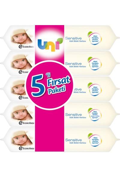 Uni Baby Sensitive Islak Havlu 5'li Fırsat Paketi / 280 Yaprak