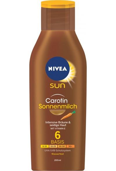 Nivea Sun 6 Faktör Havuç Özlü Bronzlaştırıcı Güneş Kremi