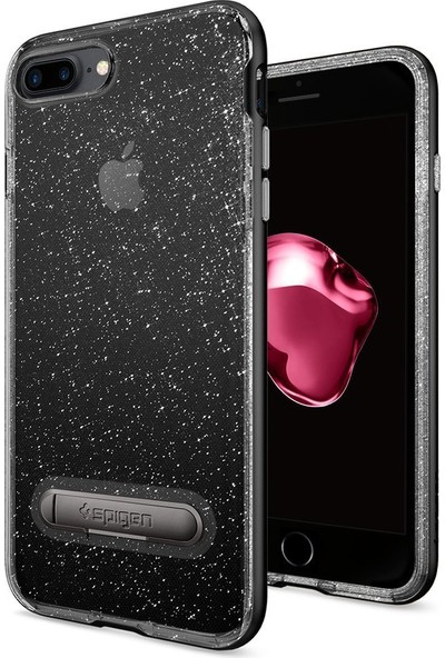 Spigen Apple iPhone 8 Plus - iPhone 7 Plus Kılıf Crystal Hybrid Glitter Series Jet Black - 043CS21214