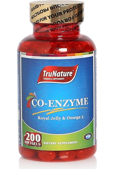 TruNature Coenzyme Q10 + Omega 3 + Complex 200 Royal Jelly SKT:10/2019