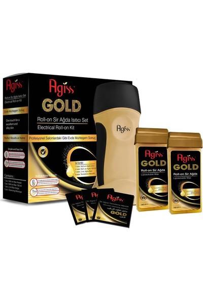 Agiss Gold Kartuş Roll On Ağda Isıtıcı Set