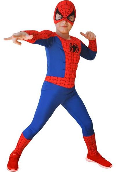 Partioutlet Spiderman Kaslı Kostüm 7-9 Yaş