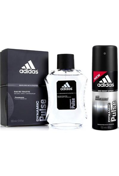 Adidas Dynamic Pulse Erkek Parfüm 100 Ml + Deodorant 150 Ml Set