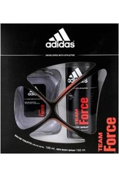Adidas Team Force Erkek Parfüm 100 Ml+ Deodorant 150 Ml Set