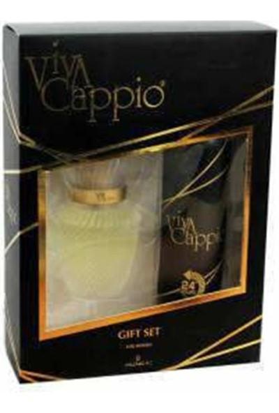 Viva Cappio Kadın Parfüm + Deodorant + 3 Lü Far
