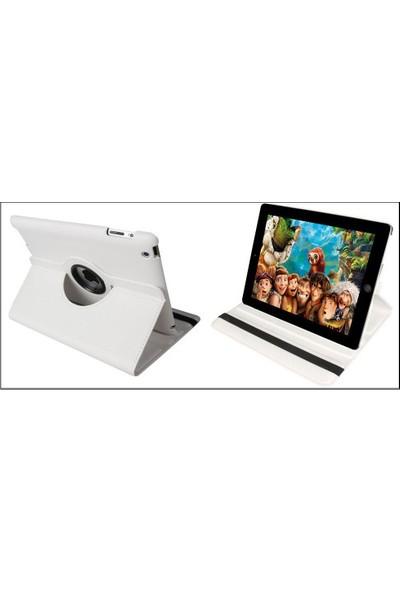 Ebrar Apple iPad Air 2 360 Dönerli Tablet Kılıf+9H Kırılmaz Cam+Kalem+Otg Kablo