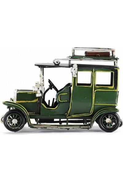 Mnk El Yapımı Eskitilmiş Metal Vintage Mercedes Benz Klasik Araba Resim Çerçeveli 3411Ss