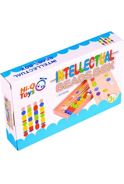Hi-Q Toys Bak Ve Diz Ahşap Boncuk Dizme