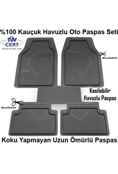 Nettedarikcisi Hyundai İ30 Havuzlu Oto Paspas Kauçuk Gri