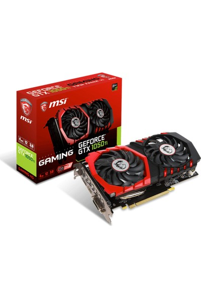 MSI NVIDIA GeForce GTX 1050 TI Gaming 4G 4GB 128 bit GDDR5 DX(12) PCI-E 3.0 Ekran Kartı (GTX 1050 TI Gaming 4G)