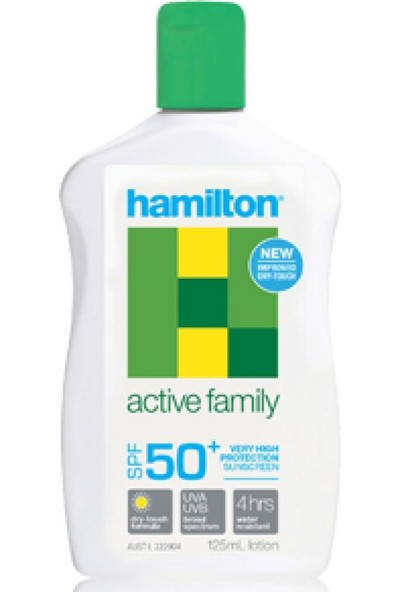 Hamilton Active Family Lotion Spf 50 Faktör 125 ml Güneş Kremi