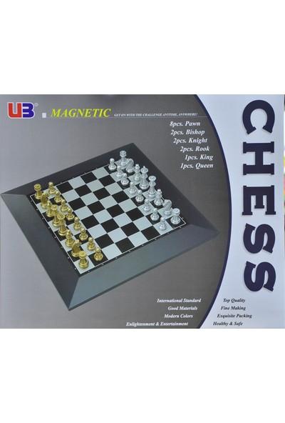 U3 Magnetic Chess 2808A-03021 Kutulu Büyük Satranç Seti