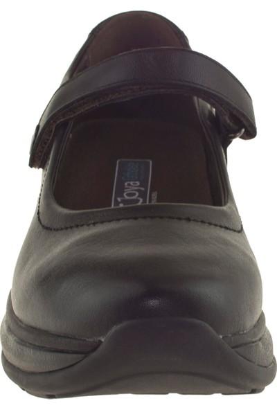 Joya Mary Jane II Ortopedik Siyah Kadın Ayakkabı