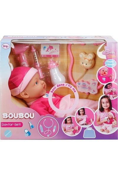 Boubou 01042 Bebek Set Doktor Aksesuarlı Ateşlenen Bebek
