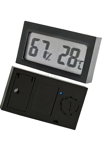 Aek-Tech Dijital Nem Ölçer Termometre (Siyah)