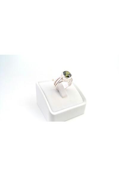 Adorno Özel Tasarım Yeşil Zirkon Taşlı Yüzük Yz06083
