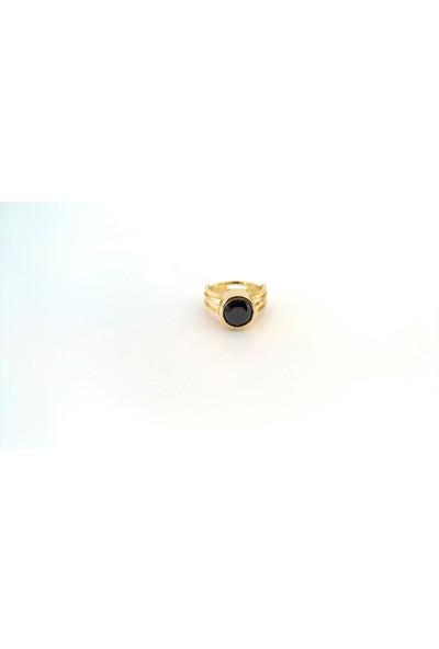 Adorno Özel Tasarım Siyah Zirkon Taşlı Yüzük Yz06087